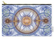 Blue Fractal Inception  Carry-all Pouch by Martin Capek