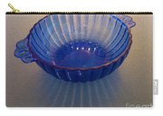 Blue Glass Bowl Carry-all Pouch