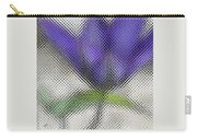 Blue Glass Flower Carry-all Pouch