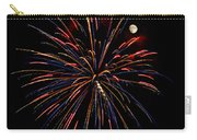 Blue Gold Pink And More - Fireworks And Moon Carry-all Pouch