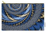Blue Gold Spiral Abstract Carry-all Pouch