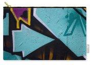 Blue Graffiti Arrow Square Carry-all Pouch