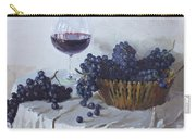 Blue Grapes And Wine Carry-all Pouch by Ylli Haruni
