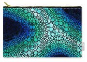 Blue Green Energy - Stone Rock'd Art Panting Carry-all Pouch