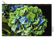 Blue Green Hydrangea Carry-all Pouch