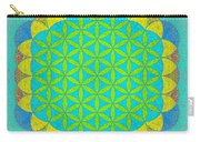 Blue Green Yellow Flower Of Life Carry-all Pouch