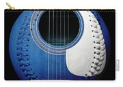 Blue Guitar Baseball White Laces Square Carry-all Pouch