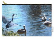 Blue Heron And Pelicans Carry-all Pouch