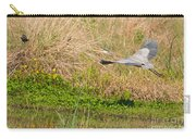 Blue Heron And The Black Bird Carry-all Pouch