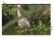 Blue Heron Hiding Reflection Carry-all Pouch