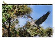 Blue Heron In The Trees Oil Carry-all Pouch