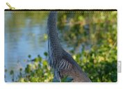 Blue Heron In The White Light Carry-all Pouch