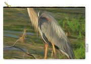 Blue Heron On The Bank Carry-all Pouch