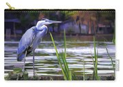 Blue Heron On The Bay Carry-all Pouch