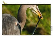 Blue Heron With A Snake In Its Bill Carry-all Pouch
