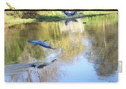 Blue Herons On Golden Pond Carry-all Pouch