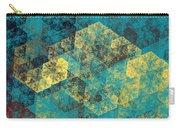 Blue Hexagon Fractal Art 2 Of 3 Carry-all Pouch