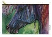 Blue Horse With Red Mane Carry-all Pouch