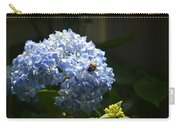 Blue Hydrangea With Bumblebee Carry-all Pouch
