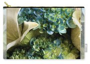 Blue Hydrangeas Painterly Carry-all Pouch