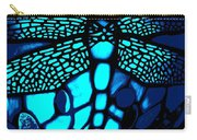 Blue Imitation  Carry-all Pouch