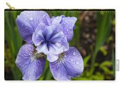 Blue Iris Flower Raindrops Garden Virginia Carry-all Pouch