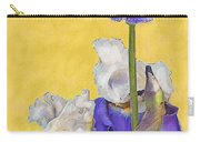 Blue Iris On Gold Carry-all Pouch