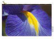 Blue Iris With Yellow Carry-all Pouch
