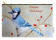 Blue Jay Happy Holidays Carry-all Pouch