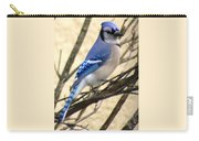 Blue Jay In A Bush Carry-all Pouch