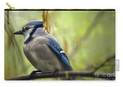 Blue Jay On A Misty Spring Day Carry-all Pouch