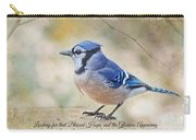 Blue Jay With Verse Carry-all Pouch