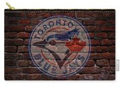 Blue Jays Baseball Graffiti On Brick  Carry-all Pouch by Movie Poster Prints