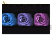 Blue Lavender Violet Roses Triptych Carry-all Pouch