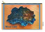 Blue Leaf Ceramic Design 2 Carry-all Pouch