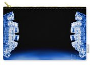 Blue Led Lights Both Sides Of The Image With Space For Text Carry-all Pouch