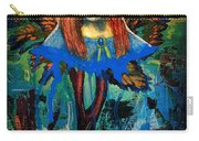 Blue Madonna In Tree Carry-all Pouch