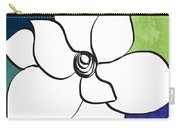 Blue Magnolia 2- Floral Art Carry-all Pouch