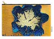 Blue Maple Leaf Dish 2 Carry-all Pouch