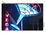 Blue Martini Glass Las Vegas Carry-all Pouch