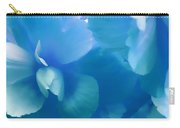 Blue Melody Begonia Floral Carry-all Pouch by Jennie Marie Schell