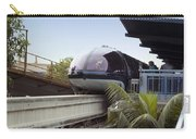 Blue Monorail In The Station Disneyland 01 Carry-all Pouch