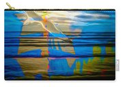 Blue Moonlight With Seagull And Sails Carry-all Pouch