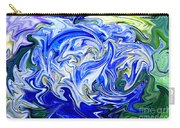 Blue Mophead Hydrangea Abstract Carry-all Pouch