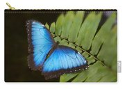 Blue Morpho Butterfly On Fren Dsc00441 Carry-all Pouch
