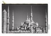 Blue Mosque Black And White Carry-all Pouch