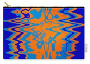 Blue Orange Abstract Carry-all Pouch