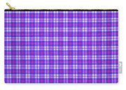 Blue Pink And White Plaid Cloth Background Carry-all Pouch