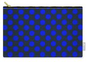 Blue Polka Dots On Black Textile Background Carry-all Pouch
