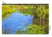 Blue Pond And Water Lilies Carry-all Pouch
